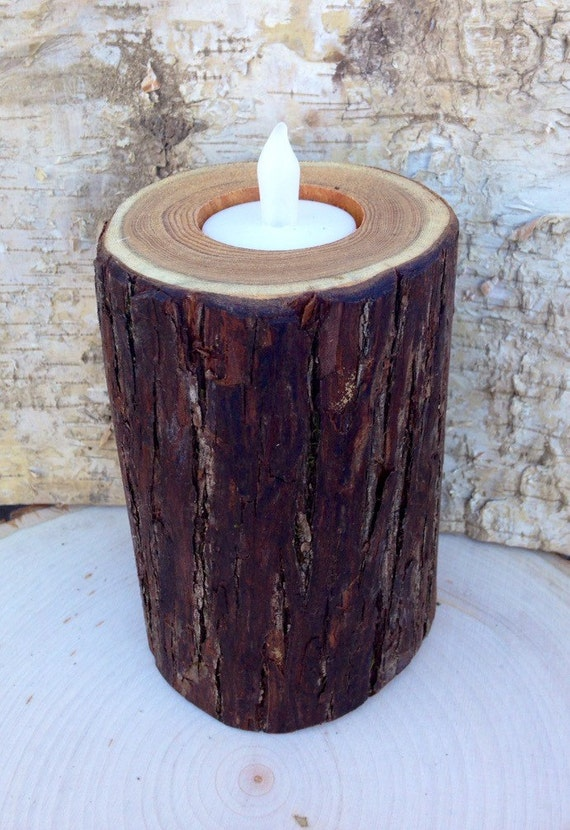 Natural Rustic Wooden Candle Holders Tea Light Holder Rustic