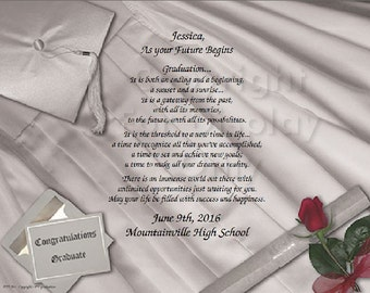 Graduation Personalized Poem Print