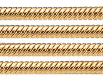 1 FT 1.5 mm 14K Gold Filled Snake Chain (GF15S) Price Per Foot