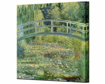 Claude Monet Water Lily Pond 1899 Canvas Wall Art Print in 4 Sizes Ready To Hang
