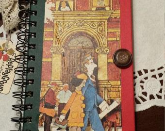 Altered Book Journal / Smash Prayer Sketch Writing Travel Notebook Rings / Diary - Hardback Book - Repurposed Book Mixed Paper Journal