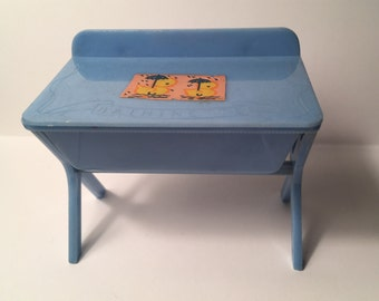Renwal Blue Baby Bathanette Vintage Plastic Dollhouse Furniture 1:16 plastic