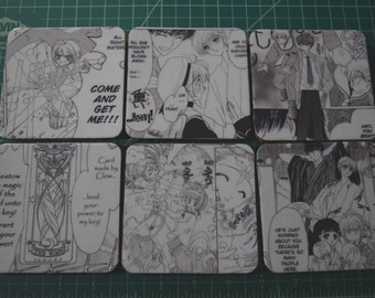 Cardcaptor Sakura Manga Drink Coasters Set of 6
