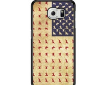 American Cat Flag Phone Case Samsung Galaxy S3 / S4 / S5 / S6 / S6 Edge / S6 Edge Plus / S7 / S7 Edge - Samsung Galaxy Phone Cover - Case