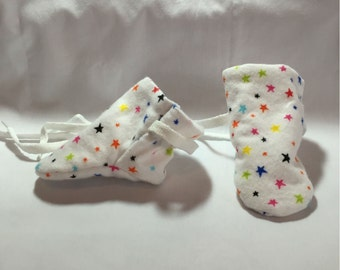 BABY BOOTIES, baby slippers, children's clothing, infant booties, crib shoes