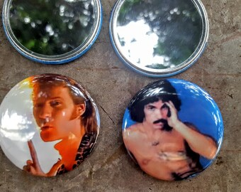 Hall and Oates Best Friends Mirror Gift 80s Music2.25 inch 58MM purse pocket hand button mirror
