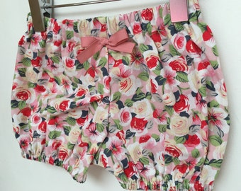 Baby bloomers shorts elastic floral pink
