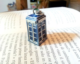 Tardis Doctor Who Police Box Necklace Blue Necklace For Her Women Jewellery Fandom