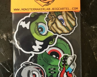 sticker pack classic monsters
