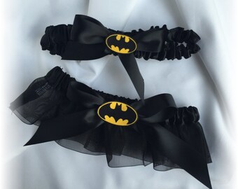 Batman Wedding Bridal Garter Set