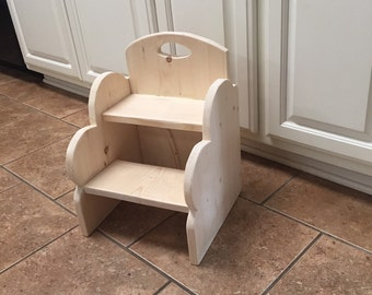 Step stool,  UNFINISHED. (See other size and finish options in my shop)