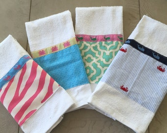 The Pink Alligator Beach Collection Hand Towels