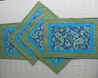 Placemats- Green and Blue