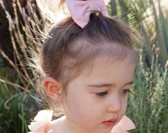 Light Pink Classic Hair Bow - Light Pink Girls Hair bow - Light Pink Hair Bow - Light Pink Fabric Hair Bow - Light Pink Fabric Bow