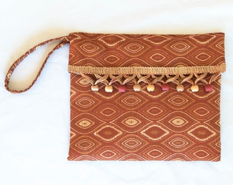 Rust and Gold Clutch Purse