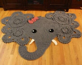 Absolutely Adorable Baby Elephant Nursery Rug