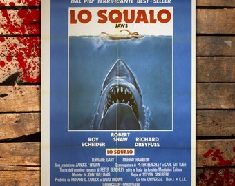 Original Movie Poster Jaws - Lo Squalo - 100x140 CM