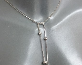 Chain silver 835 with balls without closure SK584