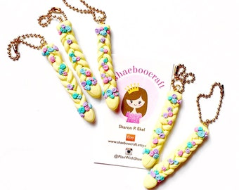 Rapunzel Braid Inspired Clay Charm - ShaeBooCraft