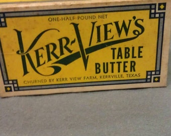 Kerr-View's Table Butter Sweet Cream Butter Carton Container