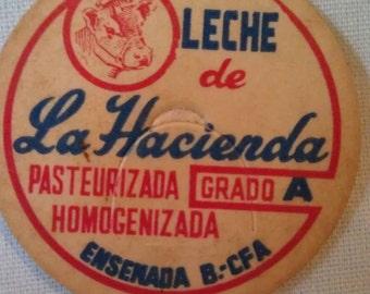 La Hacienda Pasteurizada Homogenizada Grade A Leche de Milk  Bottle Cap