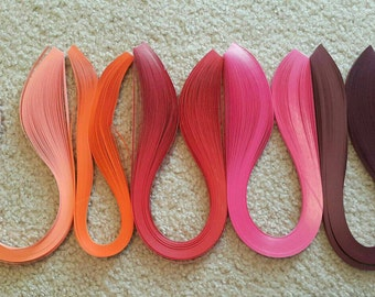Quilling paper, 5mm, 100 strips, Quantity for each color not listed
