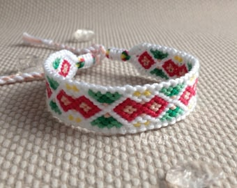 Macrame friendship bracelet in rainbowcolors