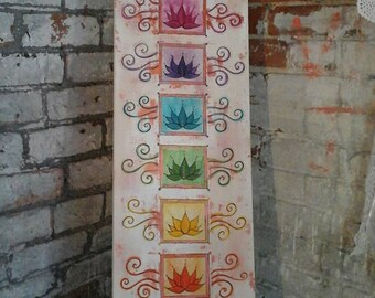 Chakra painting,lotus flower painting,spiritual art,chakra canvas,chakra picture,lotus flowers,meditative art,lotus painting,chakra wall art