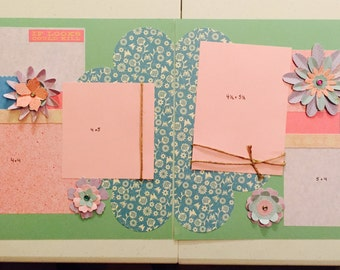 Two page 12x12 scrapbook layout