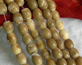Natural Bamboo Coral Oval Barrel 11*13mm Beads Bulk Wholeale from China
