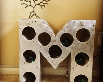 Initial wine rack