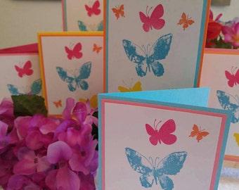 Bright Butterflies set of 6 cards