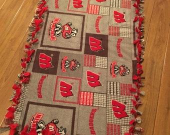 Small UW-Madison Tied Fleece Childs or Lap Blanket