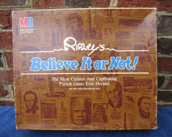 Ripley's Believe It or Not board game. Vintage (c. 1984) Published by Milton Bradley.  100% Complete!  Super condition.