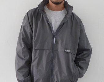 90s Fit Windbreaker Dark Grey