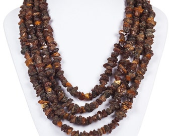 Baltic Amber Chip Bead Necklace