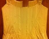 18th Century Rococo Silk Stays Corset
