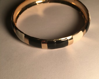 Black and White Bangle Bracelet