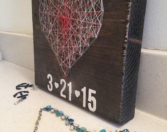 Heart shaped wedding/birth date