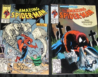 Vintage Amazing Spider-Man 303 & 308 Todd McFarlane Fair-Very Good
