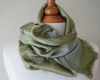 Pistache-green 'Paris' scarf - vintage