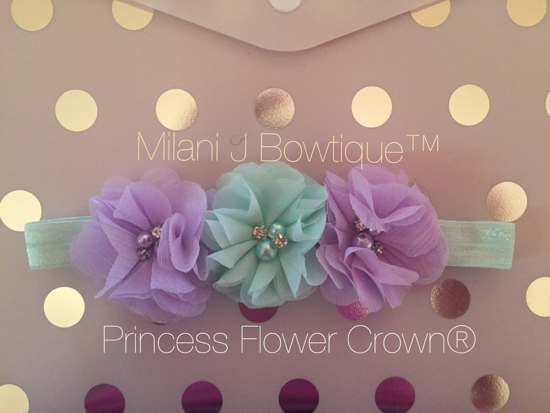 Mint Green & Lavendar Princess Flower Crown