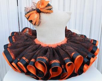 Halloween Tutu - Spider Web Tutu - Witch Tutu - Halloween Costume - Pumpkin Tutu - First Halloween - Baby Costume - Infant Costume
