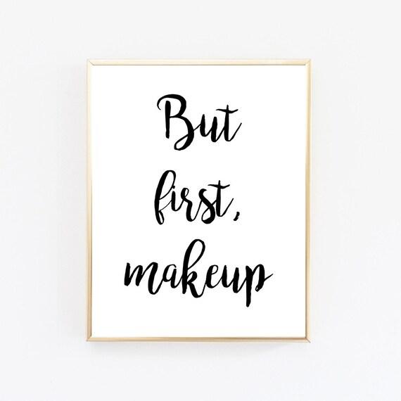 Items similar to but first makeup bathroom decor makeup for Bathroom decor etsy