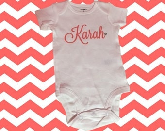 Girls Onesie With Name