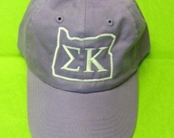 My State baseball cap Sigma Kappa Oregon State Outline