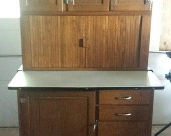 """Oak Hoosier Cabinet,  69"""" x 40"""" x 26"""