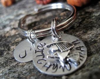 Personalized Witchy Woman Keychain