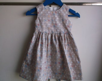 Ducks on fawn dress