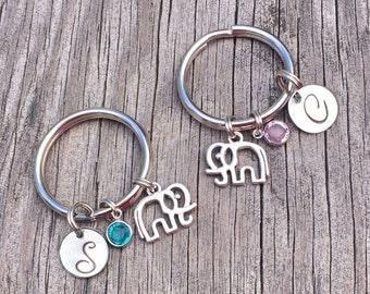 Set of 2 - best friend - Best Friend Keychain - Elephant - Keychain - Best Friend Gift - Best Friends - BFF Keychain - Friend Keychain